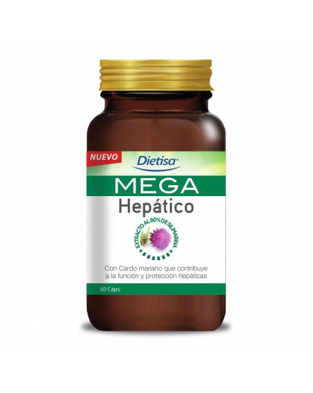 Mega hepático Dietisa, 60 cápsulas
