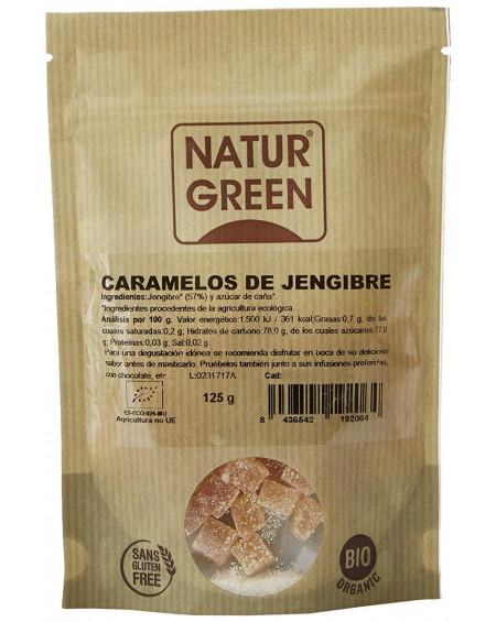Caramelos de jengibre ecológicos Naturgreen 125g