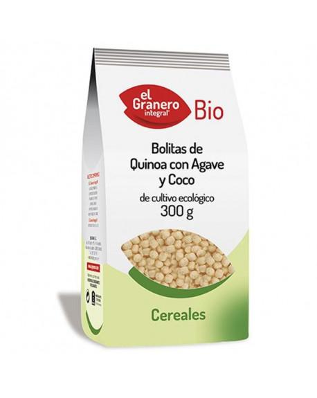 BOLITAS DE QUINOA CON ÁGAVE Y COCO BIO - 300 G Cereales Y  legumbres Biogran